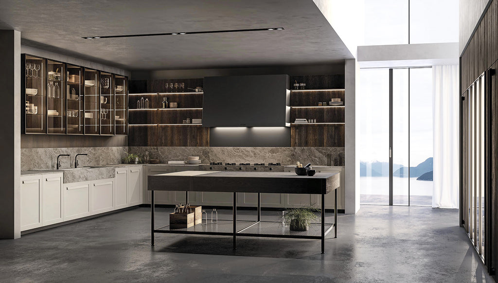 Luxury Italian Kitchen - Impronta contemporary Kitchen by Effeti, Italy via Abitalia South Coast