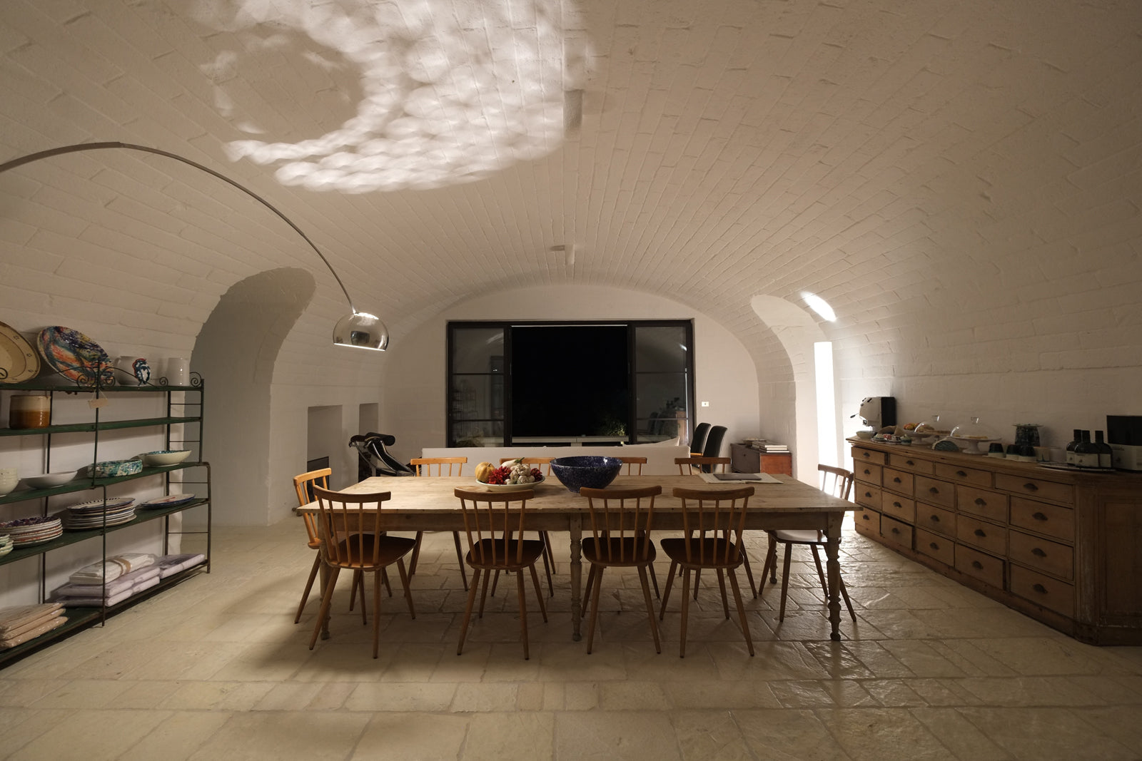Arco at Masseria Moroseta. Buy the original Arco floor light by Flos from Abitalia South Coast in Poole online