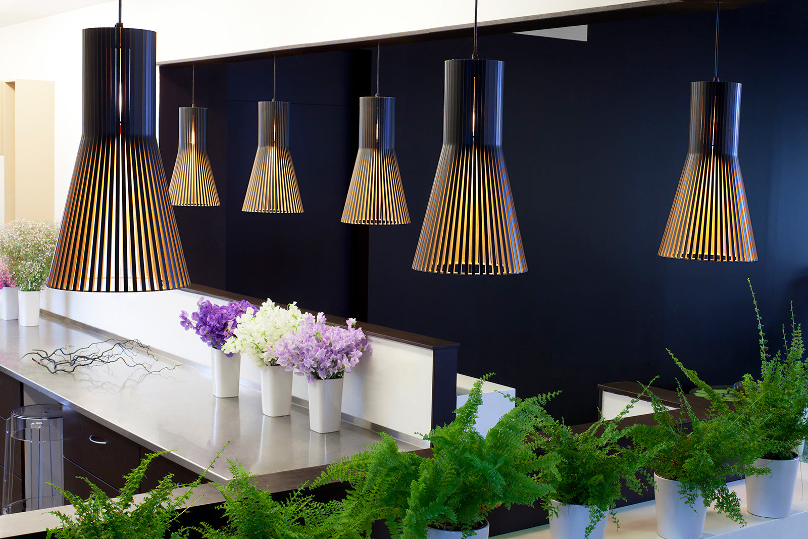 Luxury Lighting available online from Abitalia South Coast by the brand Secto
