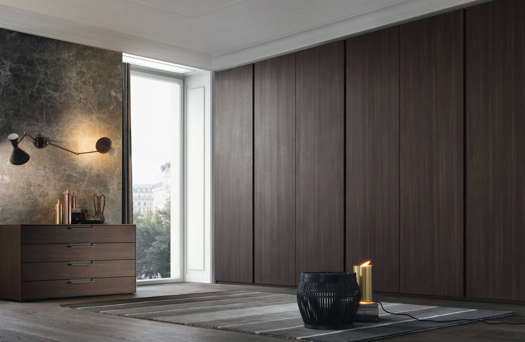 Giellesse Contemporary Luxury Groove Wardrobe made in Italy - available via Abitalia South Coast, Poole