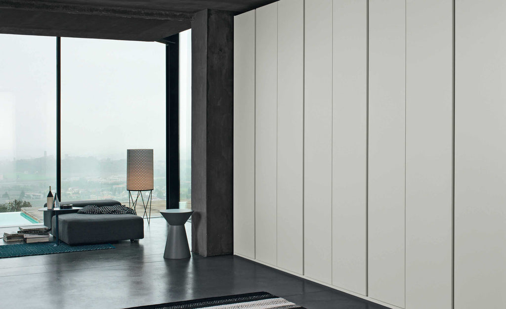 Giellesse Contemporary Luxury Groove White Wardrobe made in Italy - available via Abitalia South Coast, Poole