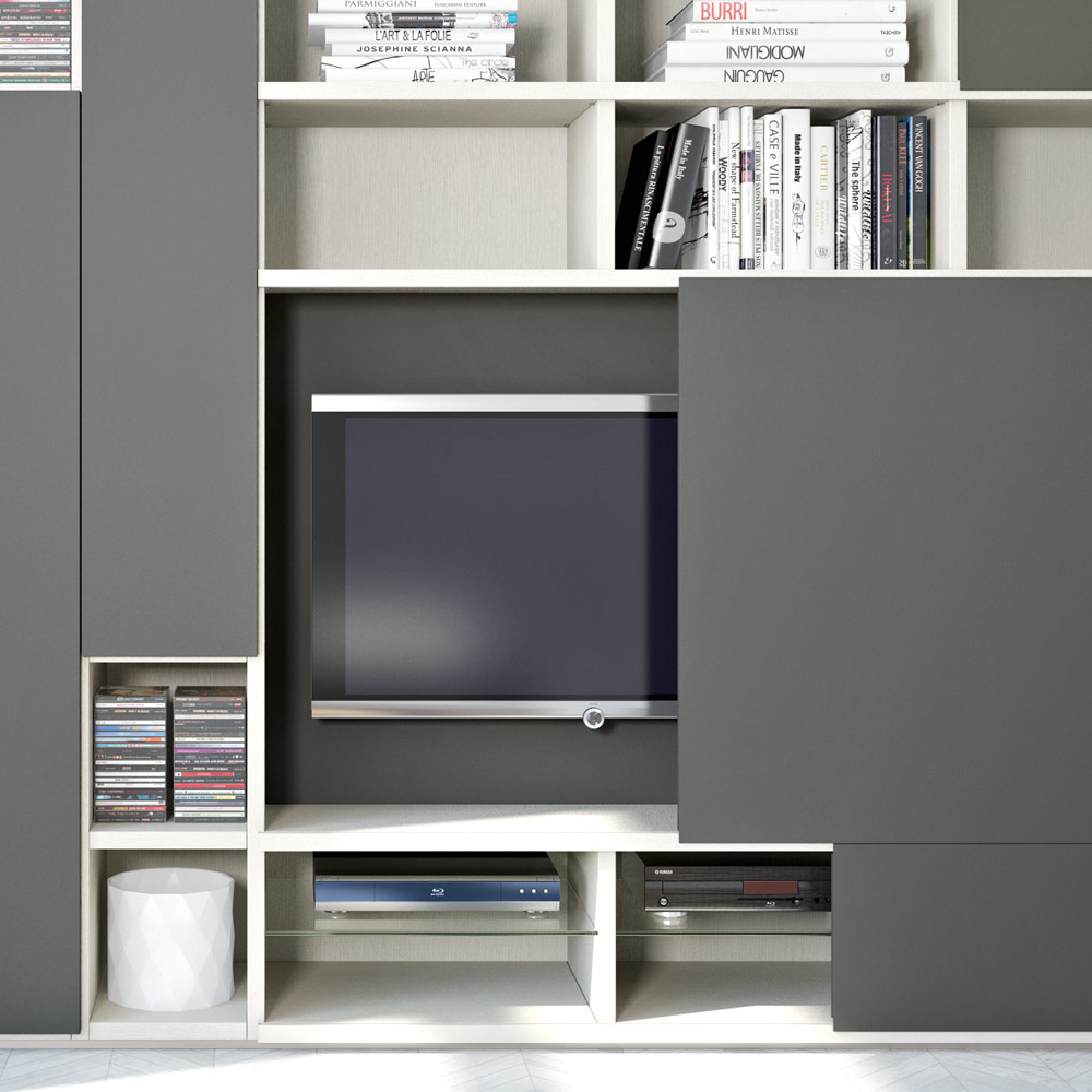 Bespoke television cabinets made in Italy