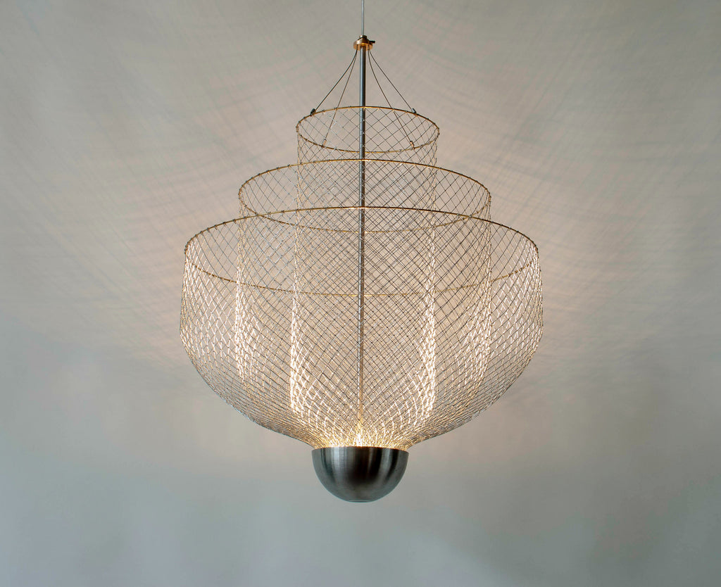 Contemporary Meshmatics Chandelier by Luxury Brand Moooi and designed by Rick Tegelaar
