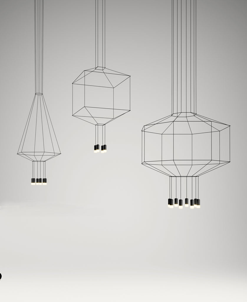 Wire flow contemporary pendant lights by Vibea, Barcelona and designed by Arek Levy