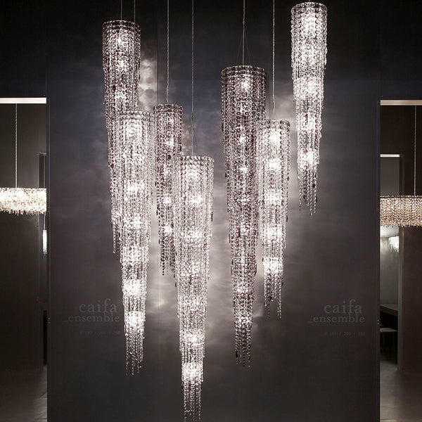 Caifa Circular chandelier by Lolli e Memmoli, Italy. Italian designer hand made chandeliers from Milan 2