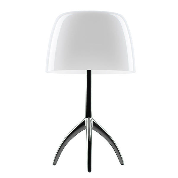 Contemporary Lumiere Small White Opal Glass Table Lamp (Ex-display) by Foscarini and designed by Rodolfo Dordoni