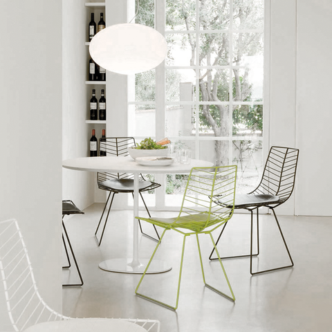 Leaf Sled Chair White lacquered / Leather, Chairs - Arper, Abitalia South Coast  - 1