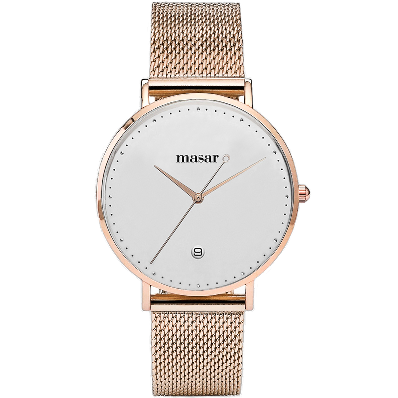 Alexandrie-09 Mesh Rose Gold Silver/Rose Gold