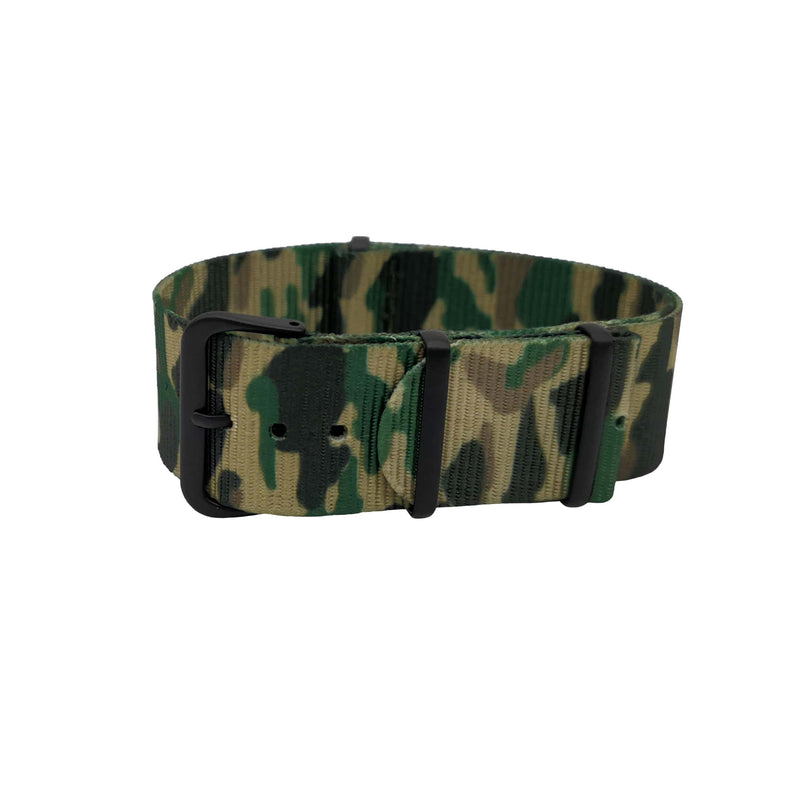 NATO - Camouflage Green Boucle Black