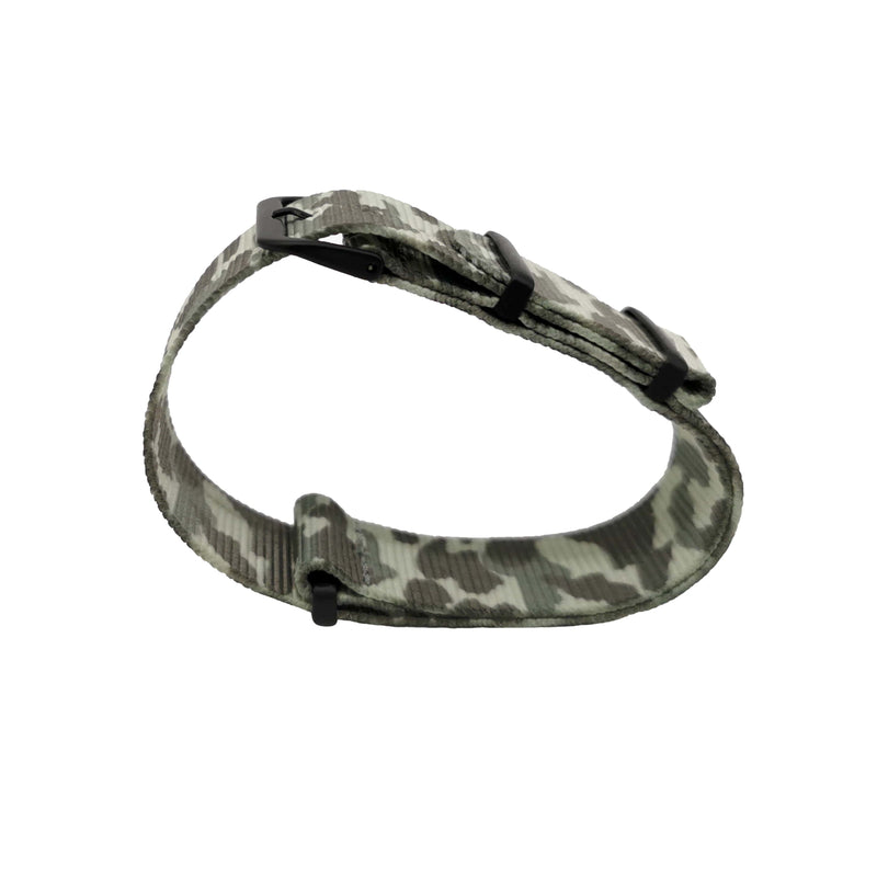 NATO - Camouflage Light Grey Boucle Black