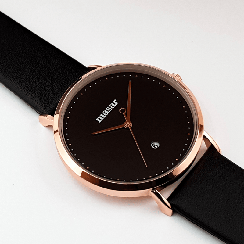 Alexandrie-05 Rose Gold Full Black