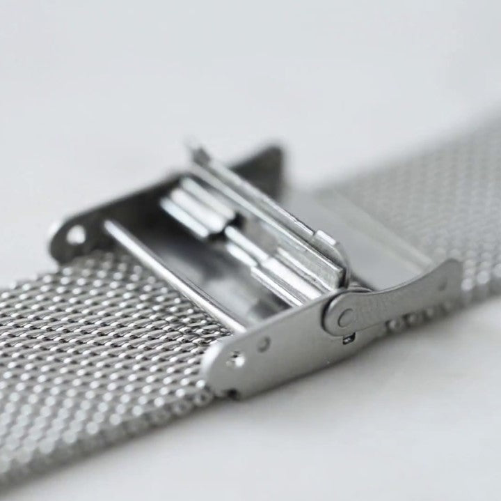 <transcy>14mm to 22mm Milanese Mesh Silver / Silver (Multi-brand replacement)</transcy>