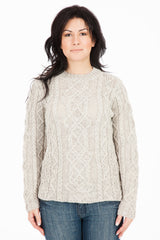 The Ridgewalk - Ash - Womens Aran Jumper