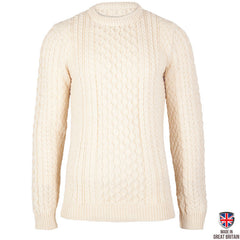 Johnson - Men's Aran Sweater - Pure British Wool