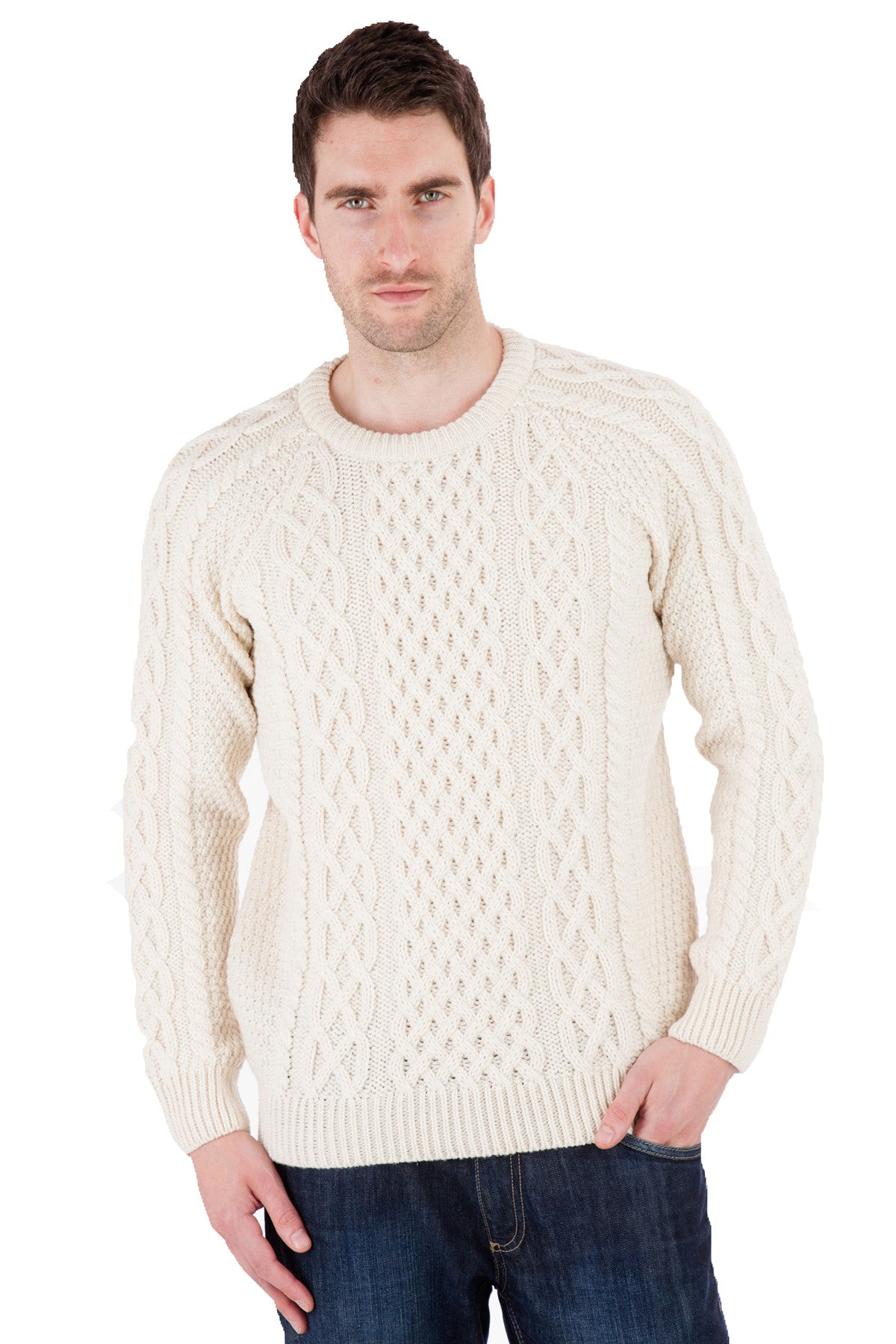 Mitchell   Aran Jumper Sweater   Pure Merino Wool