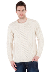 Mitchell - Aran Jumper Sweater - Pure Merino Wool