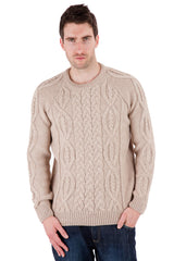 Parker - Oatmeal Jumper Sweater - Pure Merino Wool