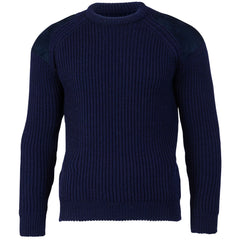 Hardy Edition I - Chunky Knit Ribbed Jumper - Pure British Wool - Navy