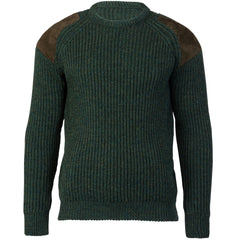 Hardy Edition I - Chunky Knit Ribbed Jumper - Pure British Wool - Loden