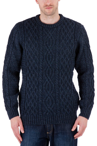 Jarvis - Denim Jumper Sweater - Pure British Wool