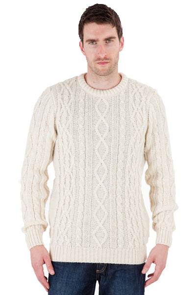 Jackson - Aran Jumper Sweater - Pure British Wool
