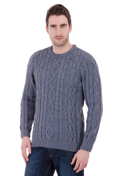 Jackson - Blue Shadow Nepp Jumper Sweater - Pure British Wool
