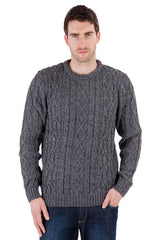 Jackson - Grey Marl Jumper Sweater - Pure British Wool
