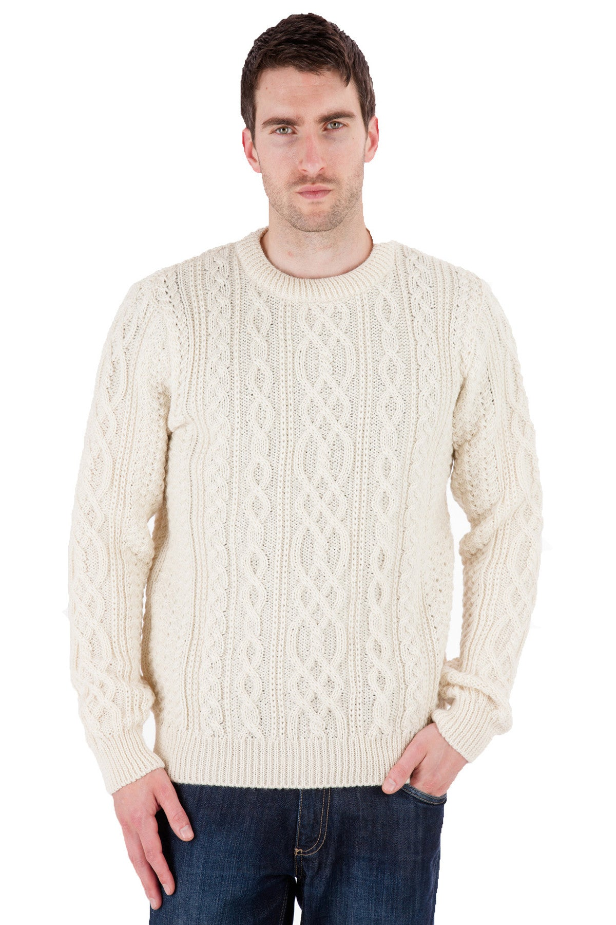 Thorpe - Aran Jumper Sweater - Pure British Wool
