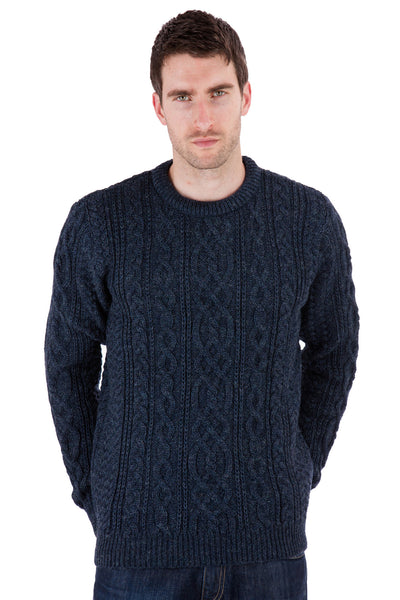 Thorpe - Denim Jumper Sweater - Pure British Wool