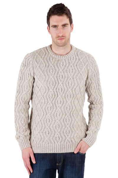 Anson - Natural Ash Jumper Sweater - Pure British Wool