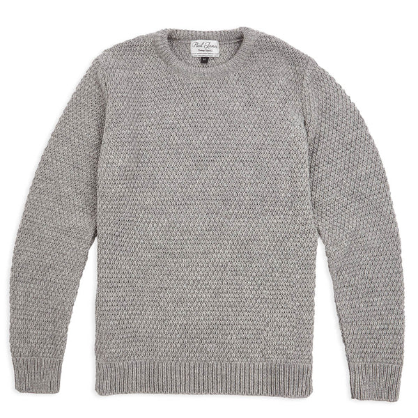 Mens Merino Moss Stitch Jumper