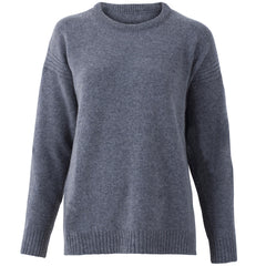 Womens Pure Lambswool Drop Shoulder Jumper