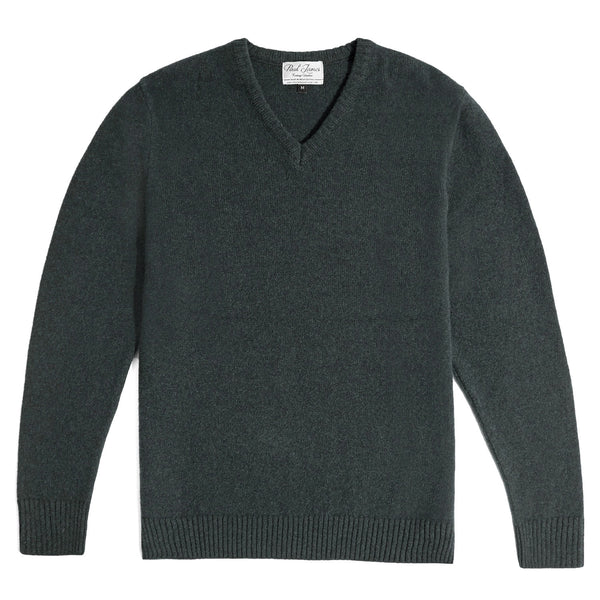 Mens 100% British Lambswool V Neck Jumper
