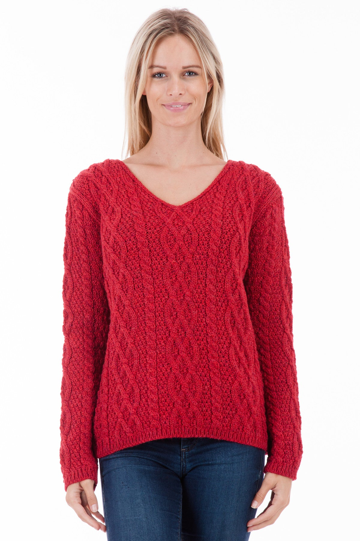 The Yorkshire - Scarlett - Womens Aran Jumper