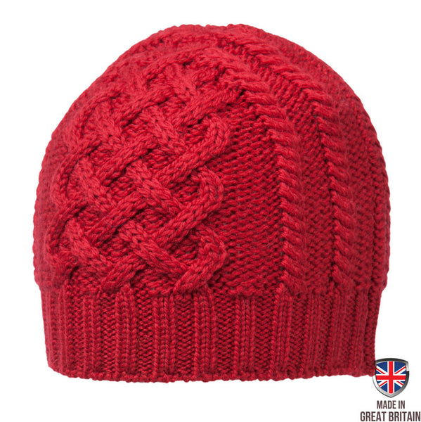 Honeycomb Wool Hat - Crimson