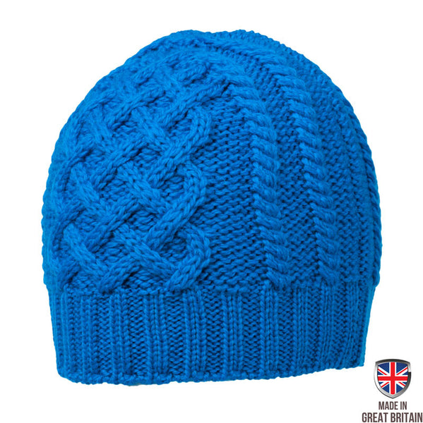 Honeycomb Wool Hat - New Blue
