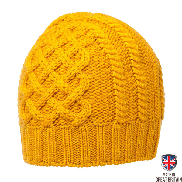 Honeycomb Wool Hat - Mustard