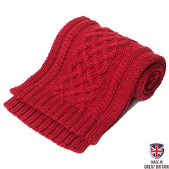 Triple Twist Merino Scarf - Crimson