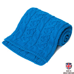 Multi Twist Merino Wool Scarf - Blue