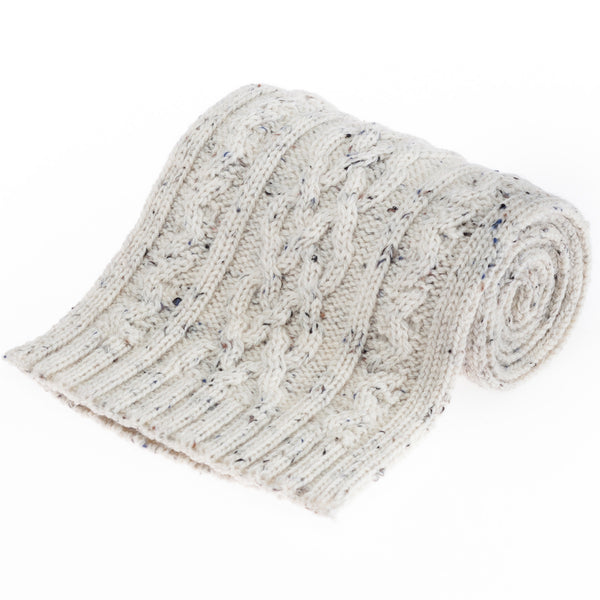 Double Twist British Wool Scarf - Aran Nepp