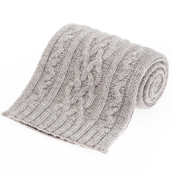 Double Twist British Wool Scarf - Oatmeal