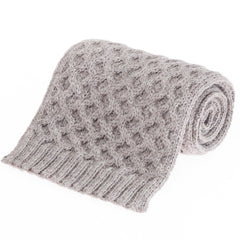 Honeycomb British Wool Scarf - Oatmeal