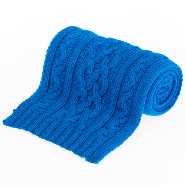Double Twist Merino Scarf - New Blue