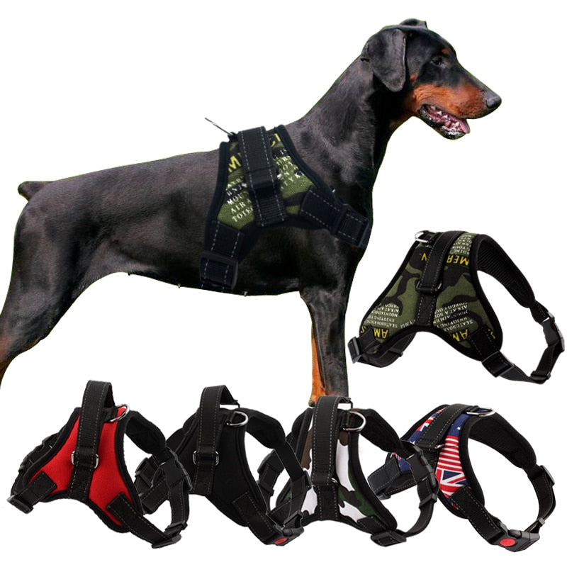Durable reflective dog and puppy harness