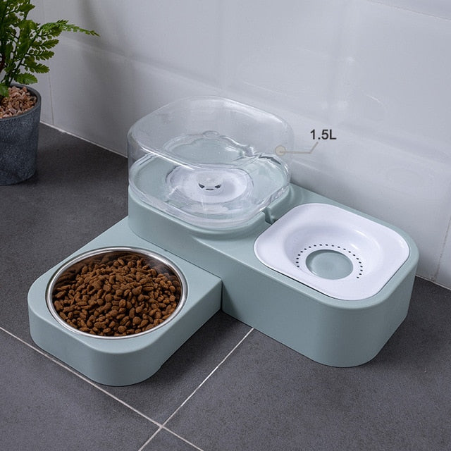 2 in one feeding and water bowl for dogs and cats