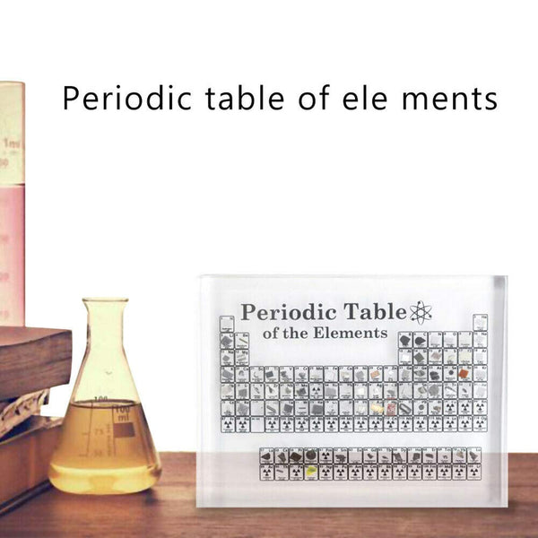 Collectable Periodic Table with REAL Elements - FREE SHIPPING