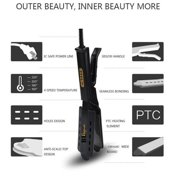 Ceramic Tourmaline Straightener by TerougePRO