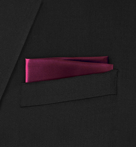 Berkeley - Straight Two Fold Burgundy Pocket Square