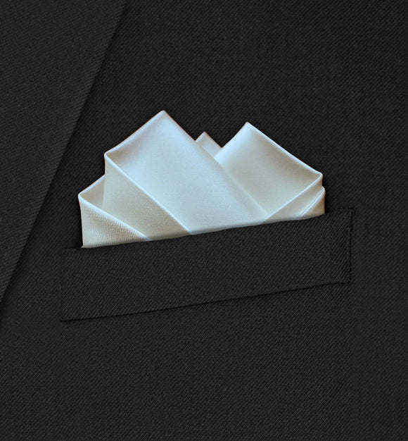 Wedding - Ivory Pocket Square - Hankyz.com