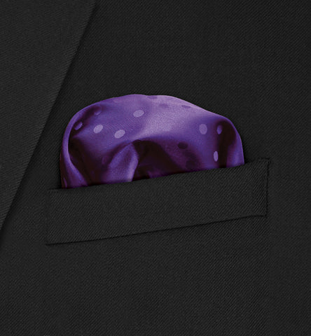 Chelsea - Purple Polka Dot on Purple Pocket Square